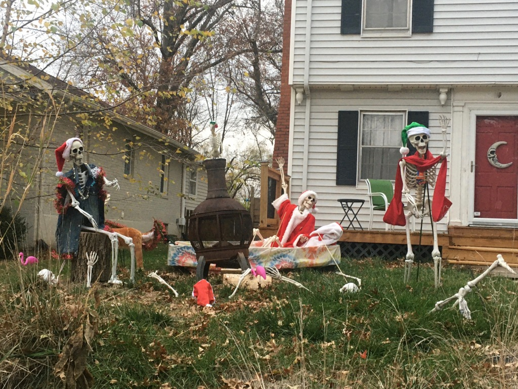Mix of Halloween & Xmas decorations