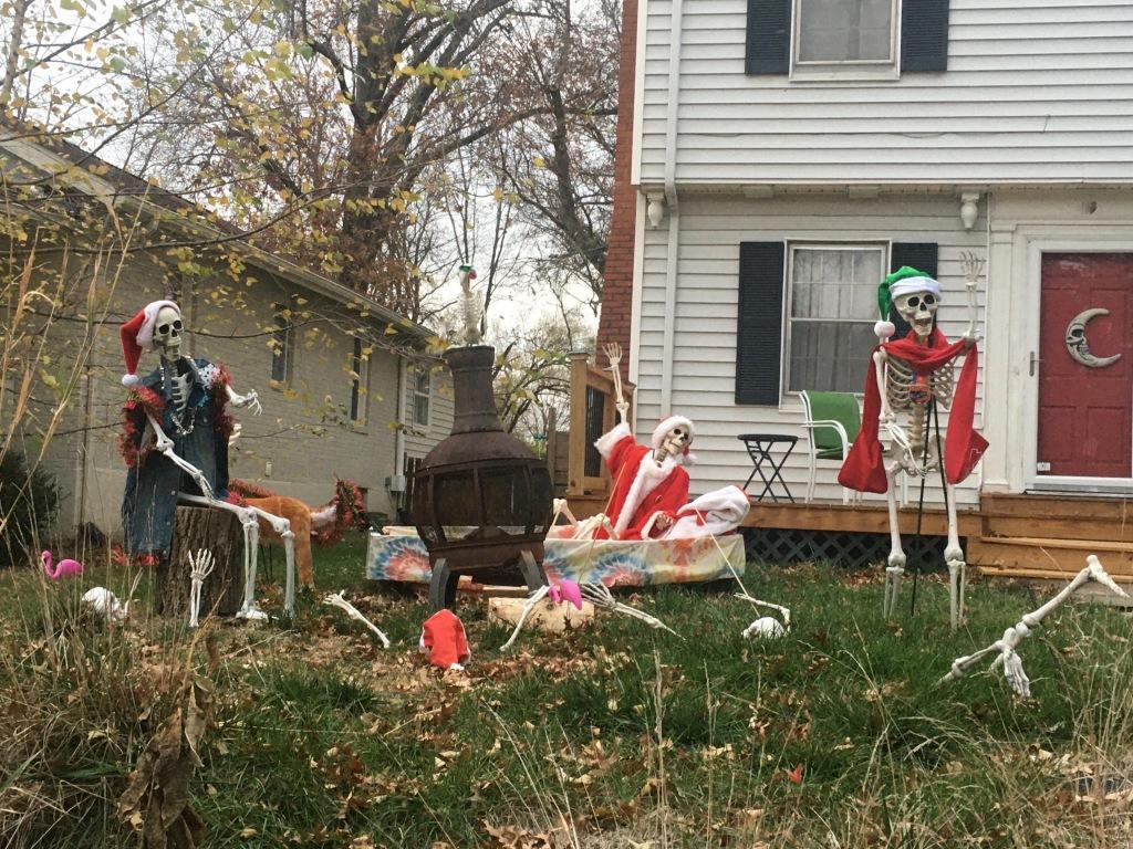 Mix of Halloween & Xmas decorations