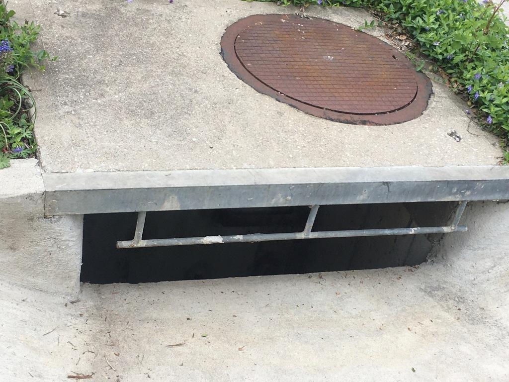 Sewer drain.